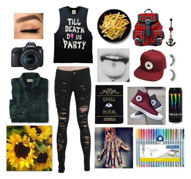 """""""so fly on your own; it's time I let you go"""" by dreaming-of-death ❤ liked on Polyvore featuring Eos, Converse and Current Mood"""