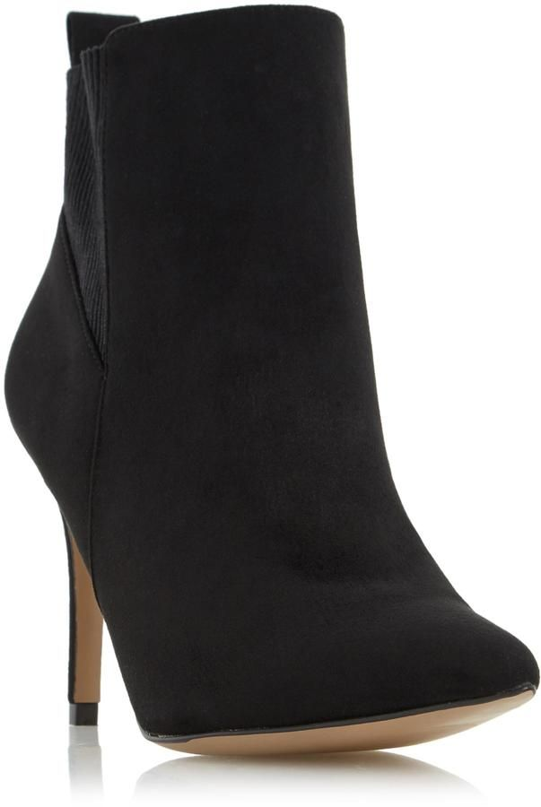 Head Over Heels by Dune ORLAGH - BLACK Stretch Detail High Heel Ankle Boot