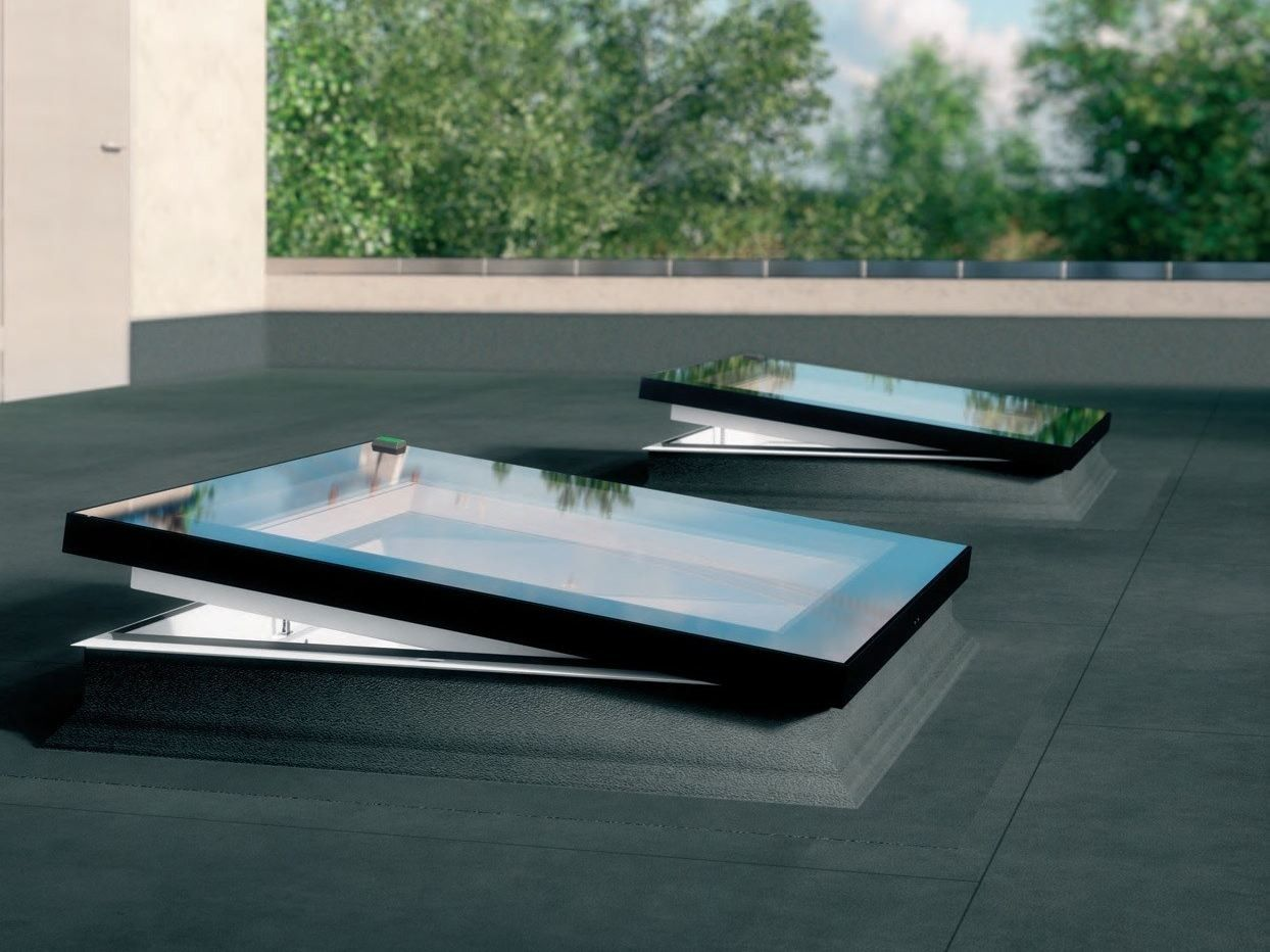 Pvc Roof Window Type F By Fakro In 2020 Flat Roof Skylights Flat Roof Lights Roof Window