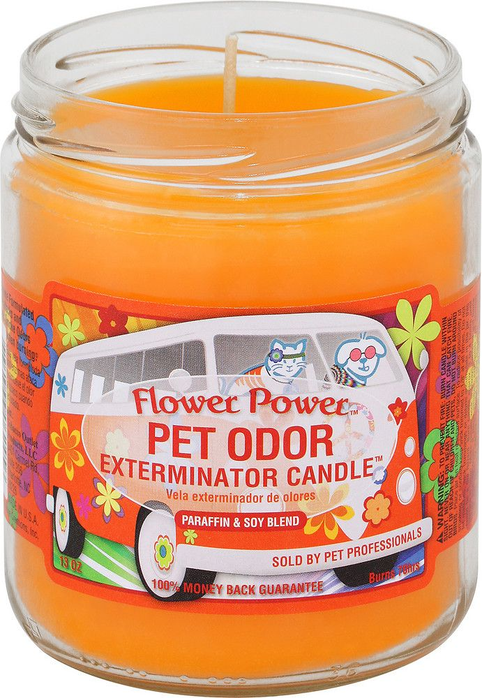 Pet Odor Exterminator Flower Power Deodorizing Candle, 13