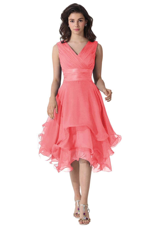 Dora Bridal V-Neck Chiffon Mother Of The Bride Dresses | Amazon.com ...