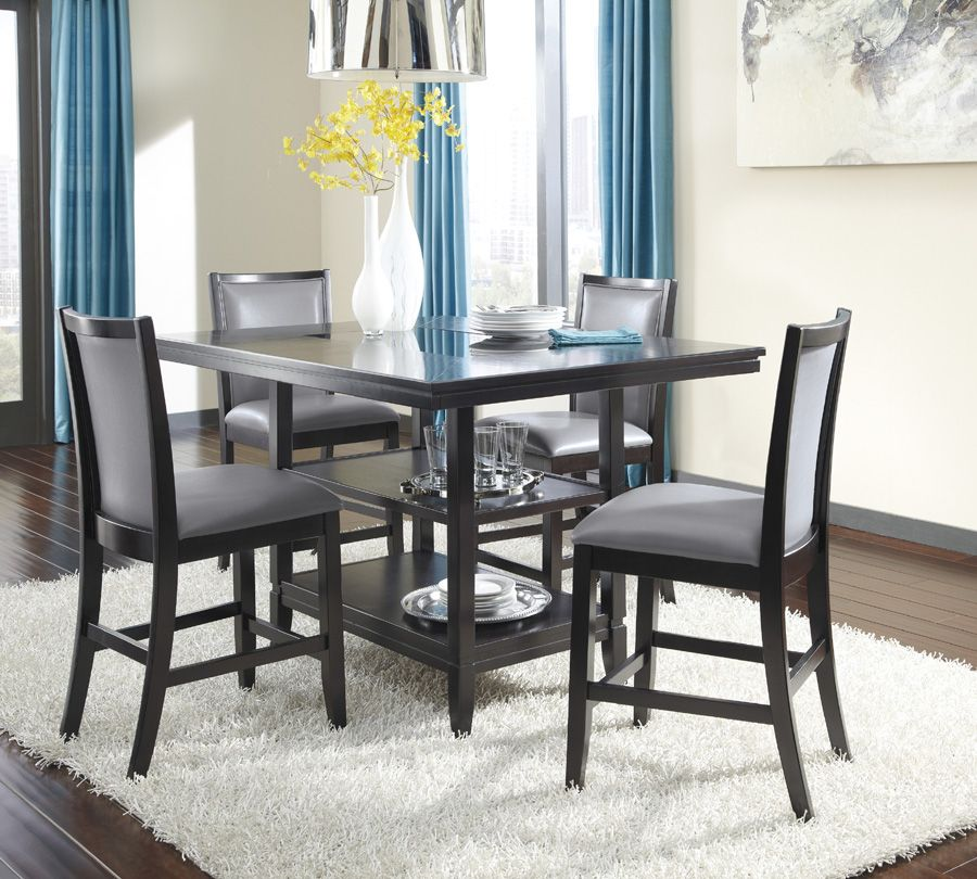 Counter Height Table Pictured W Gray Chairs Counter Height
