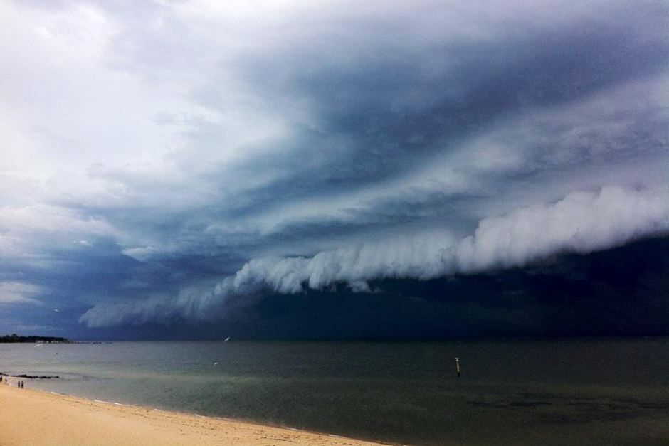 Storm clouds roll in over Hampton beach Unknown ...