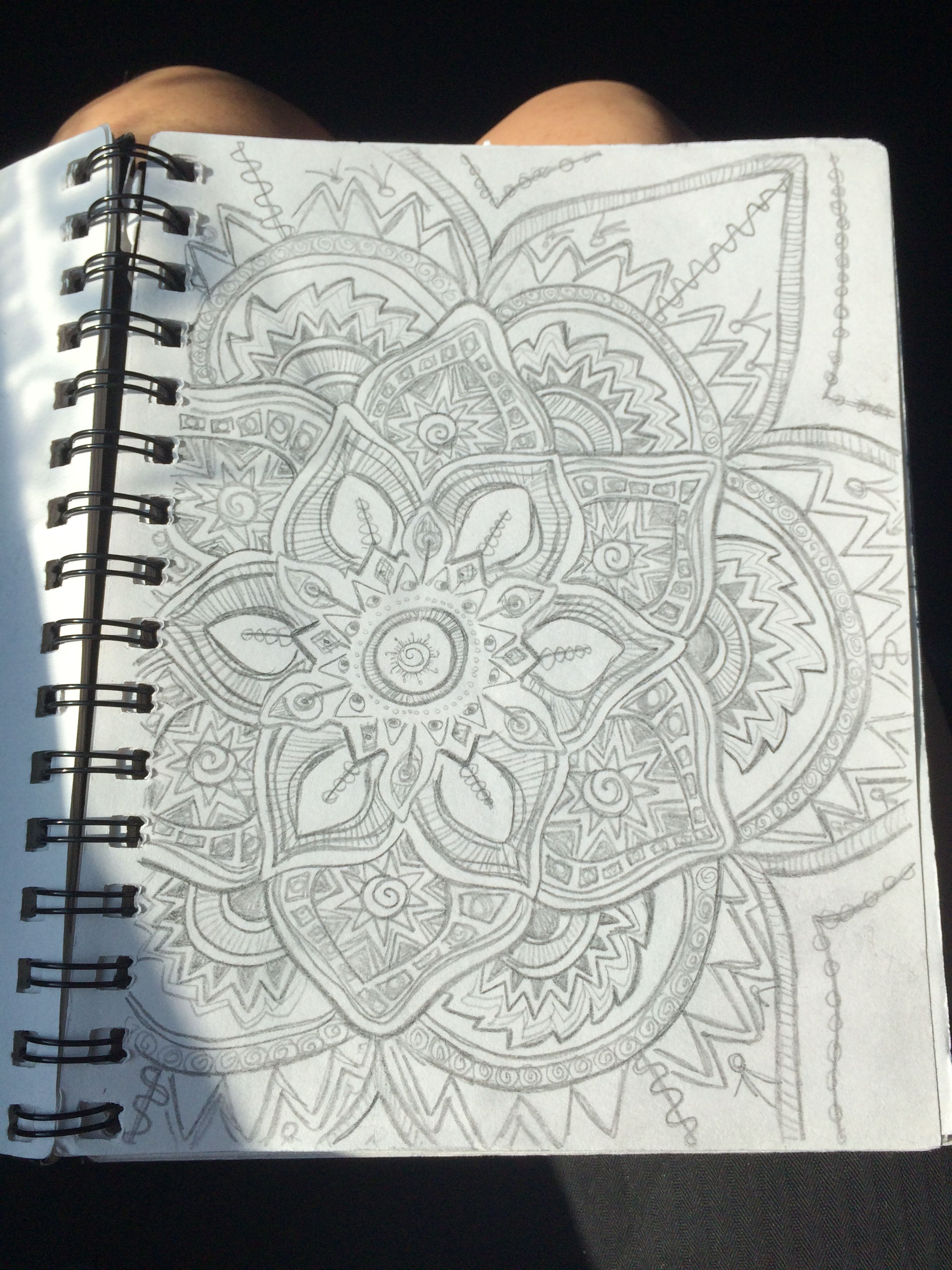 Image result for drawing in mandala pencil