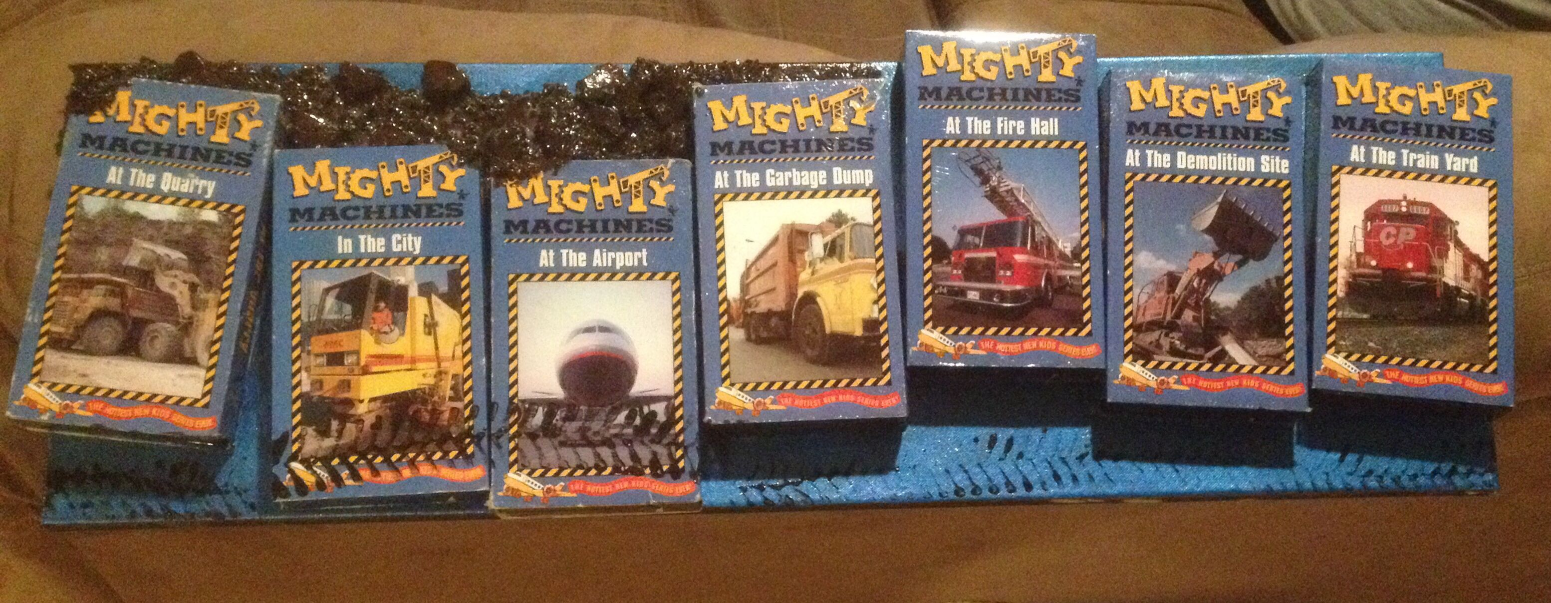 Mighty Machines Vhs Painting For My Son Art Projects