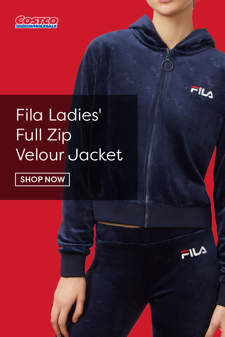 Fila Ladies Full Zip Velour Jacket In 2020 Velour Jackets Jackets Velour