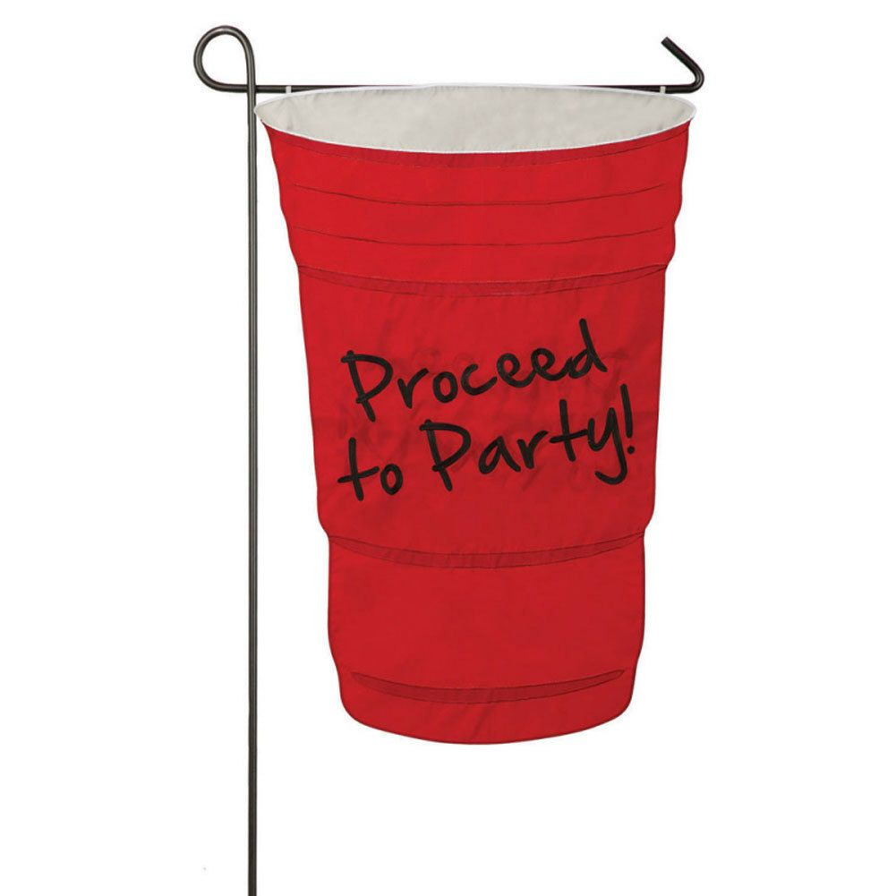 Proceed to Party Flag Garden Size Yard Decor Decorative Red Solo ...