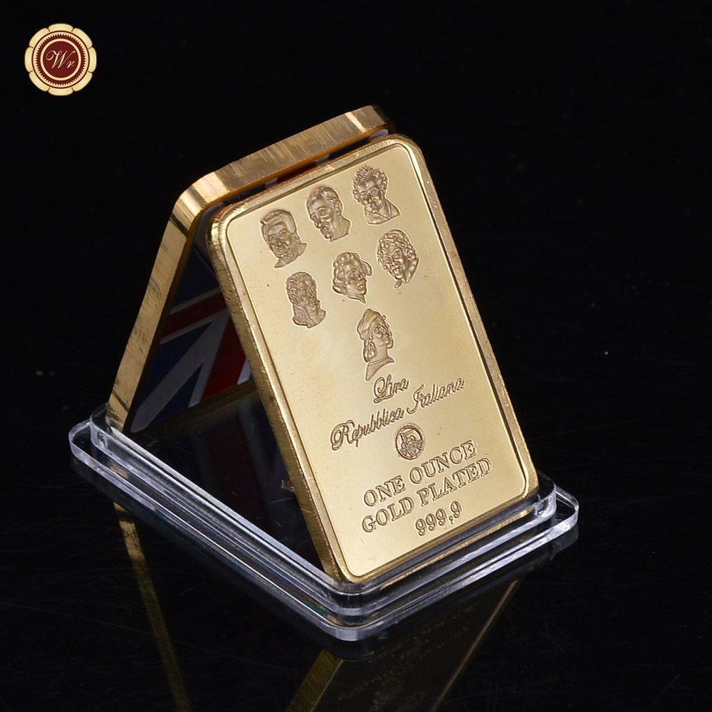 Beauty Product 999 1000 Gold Plated Coin Hot Sale High End 1 Oz Gold Bar For Value Collection Gold Bar Hot Sale Gold