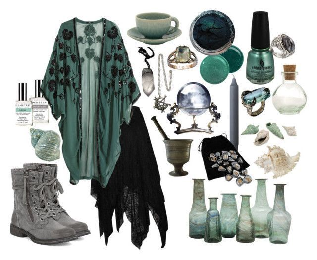 """""""Storm Water Witch"""" by ashenbones on Polyvore featuring Demeter Fragrance Librar #modernwitch"""