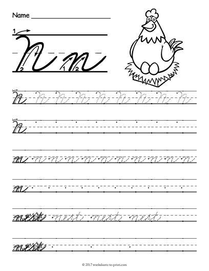 Cursive Letter N : cursive, letter, Upper, Cursive