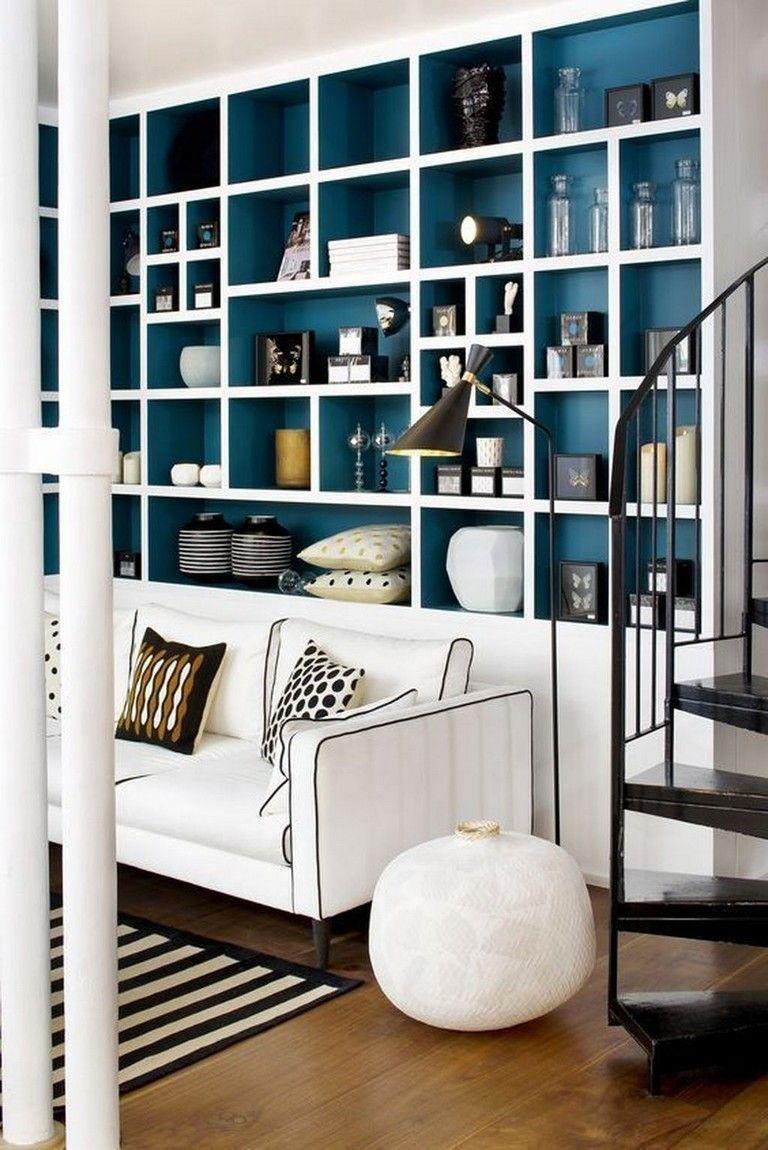 35 classy bookshelves design ideas for your living room rh pinterest com
