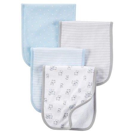 8abc6cade Just One You™ Made by Carter's® Baby Boys' 4-Pack Burp Cloth Set - Blue :  Target