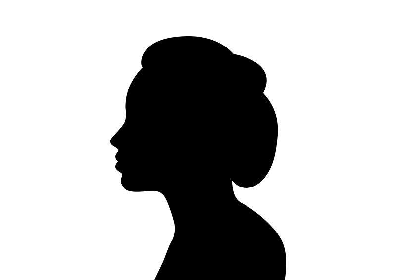 Beautiful Woman Face In Profile Silhouette Woman Face Silhouette Silhouette Woman Face