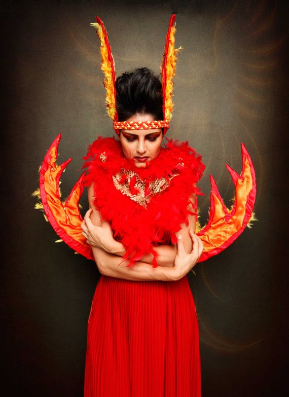 firebird rising phoenix costume womens halloween by hypnozodesign 48800 - Halloween Costume Fire