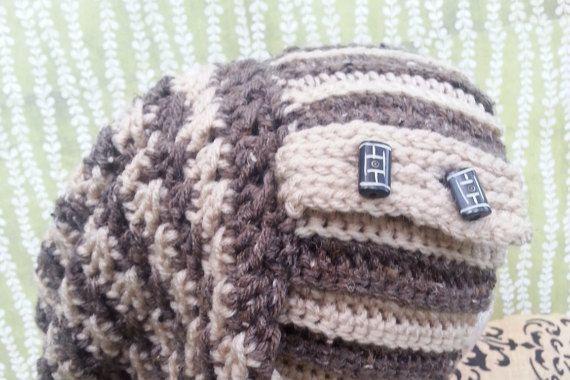 Slouchy Crochet Hat Women Men Girl Boy Teen Slouch by LadyLynelle