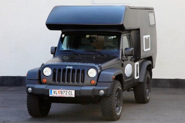 Jeep Action Camper: Turns Your Jeep into an RV.  A rugged updated version of the VW Camper Van?  Very nice!