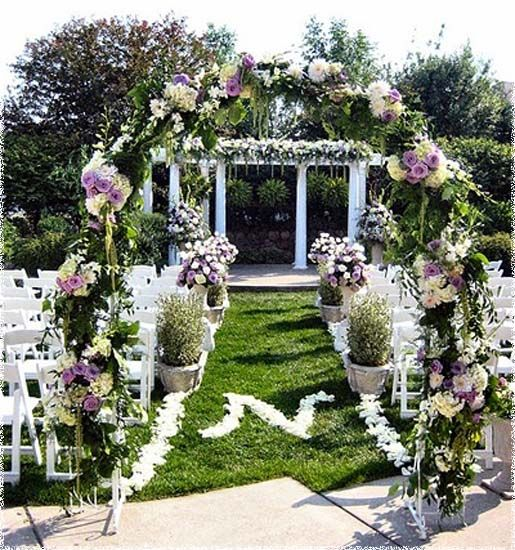 Outdoor Wedding Gazebo Decorating Ideas
