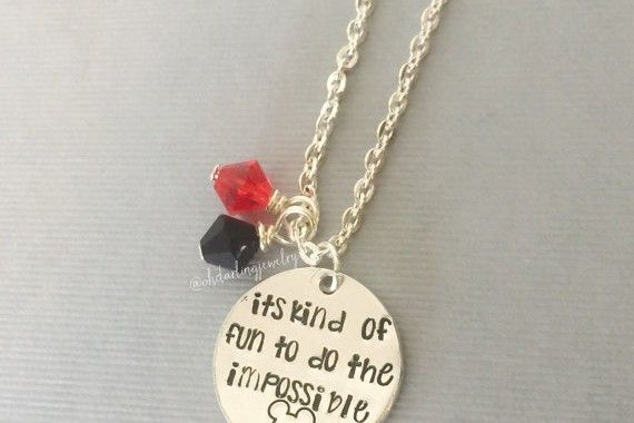 Beautiful Disney Inspired Quote Necklace