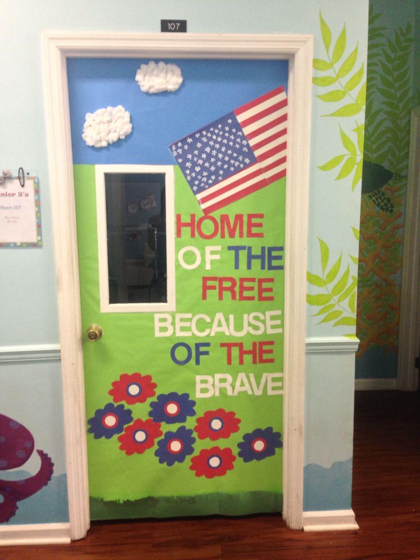 Classroom door with window - Patriotic Classroom Door Made For 4th Of July Classroom Decor