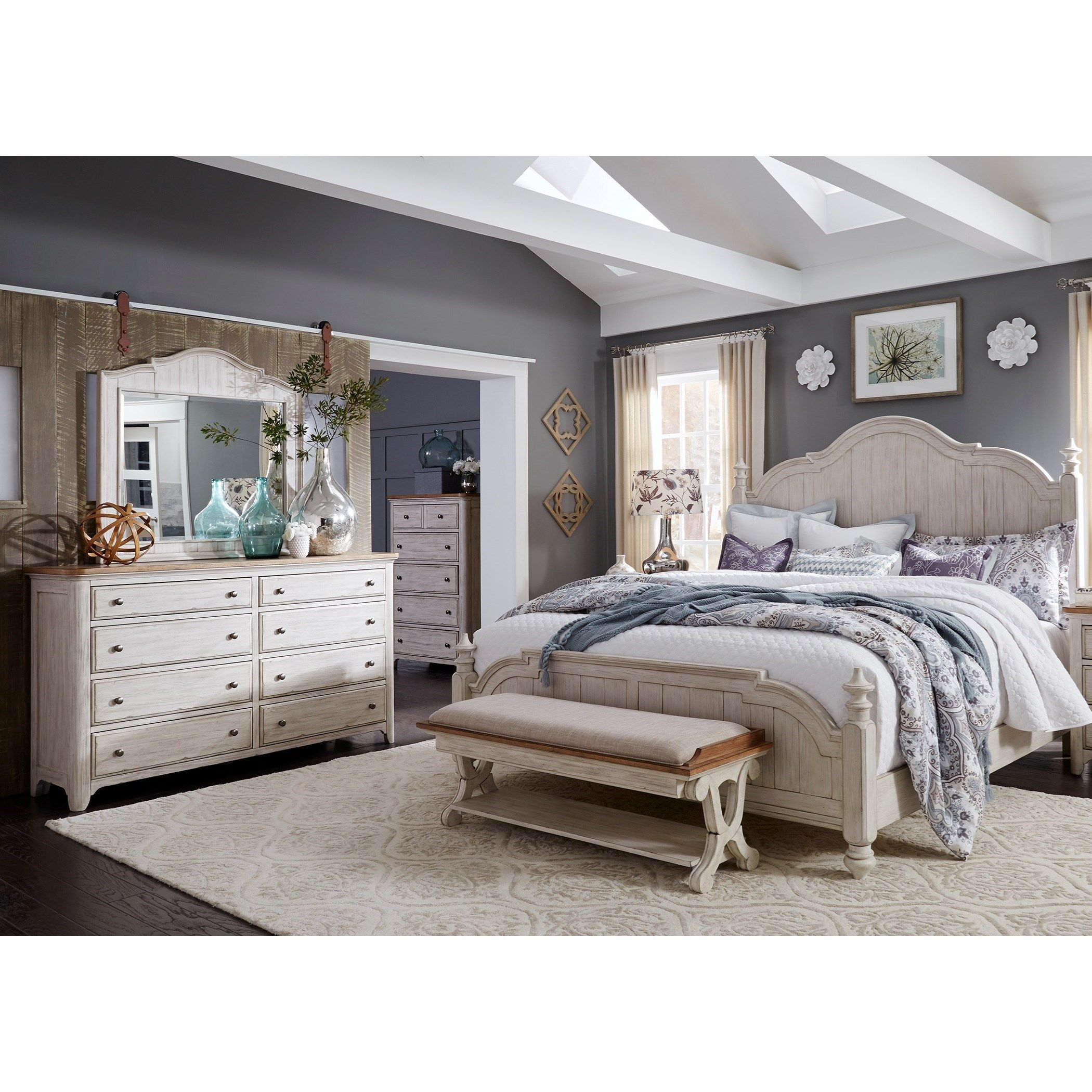 Farmhouse Reimagined King Bedroom Group By Liberty Furniture Farmhouse Master Bedroom Bedroom Furniture Sets Bedroom Sets