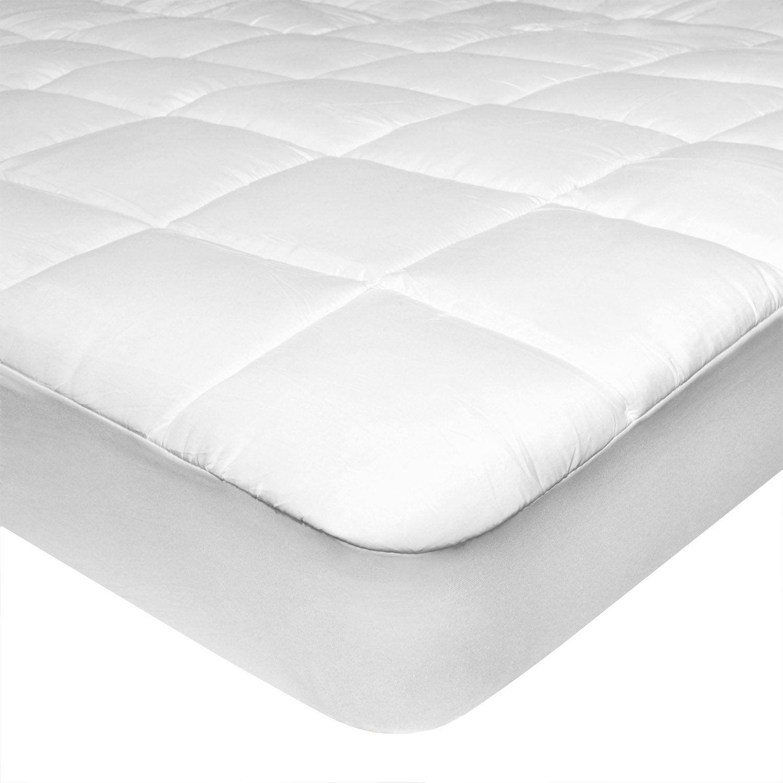 Coprimaterasso Memory Foam 5 Cm.Feluna Topper Coprimaterasso Imbottito In Microfibra Di Poliestere Bello E Morbido Al Tatto Tessuto Bianco 180 X 200 Cm In 2020 Mattress Bed Furniture