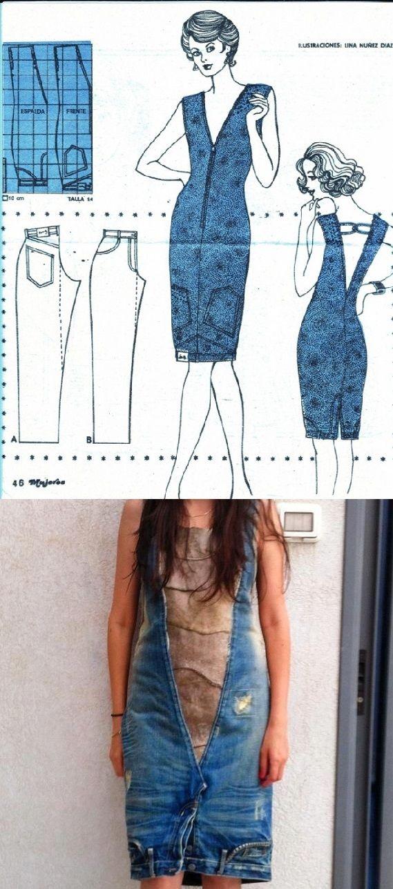Jeans Dress - DIY | Costura, Reciclado y Patrones