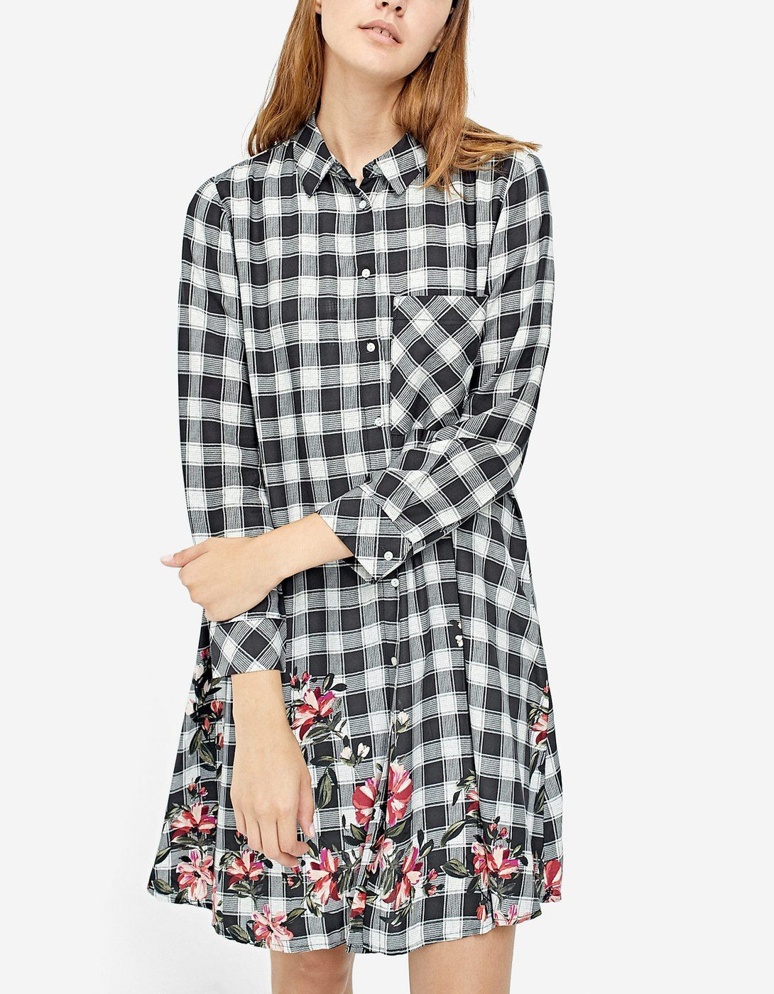 6bb1b0f959 Checked shirt dress - Dresses
