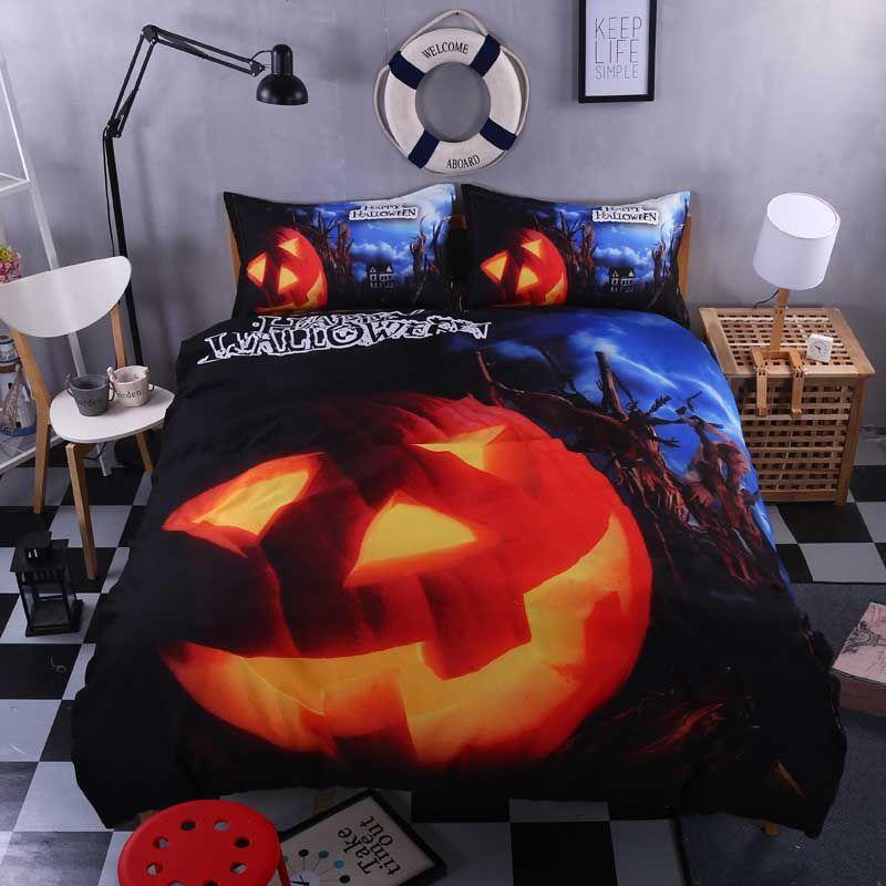 hot 5d before halloween pumpkin bedding set duvet cover kids children boys girls bed set twin full queen king size 4pcs price 5032 free shipping
