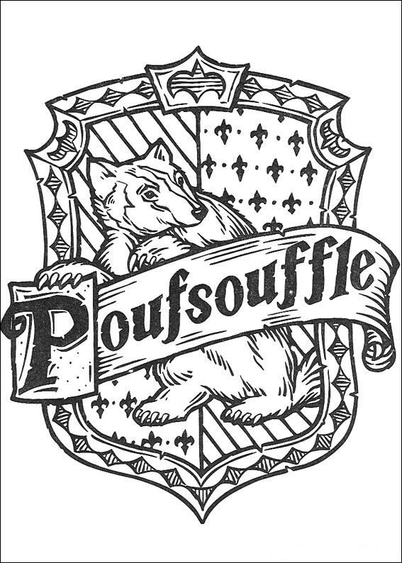 French Hufflepuff Crest Pages To Color Harry Potter Crest Harry
