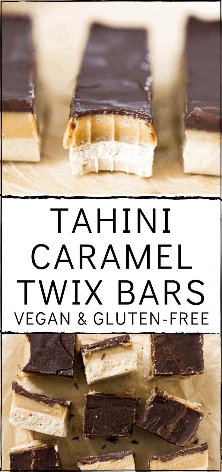 Photo of Tahini Caramel Twix Bars (Vegan and Gluten Free) » The Glowing Fridge