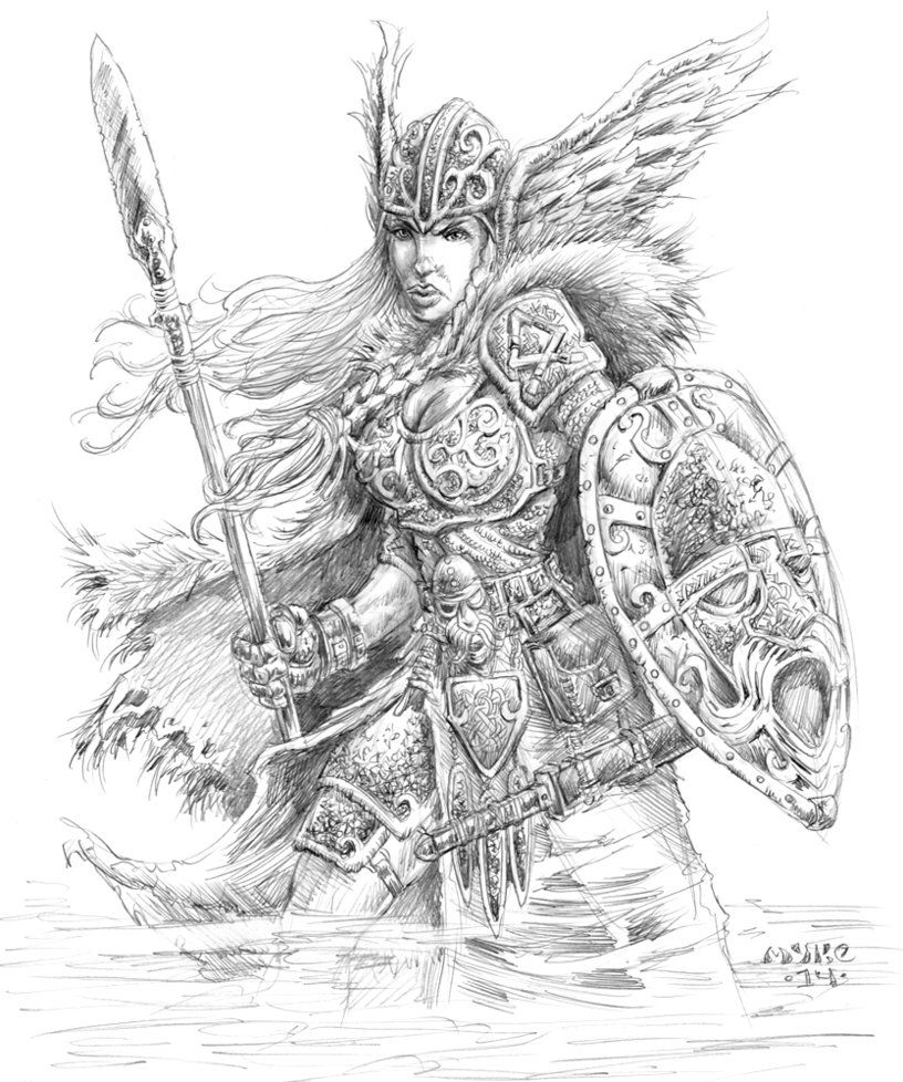 Valkyrie art that i love pinterest norse mythology for Viking pencils