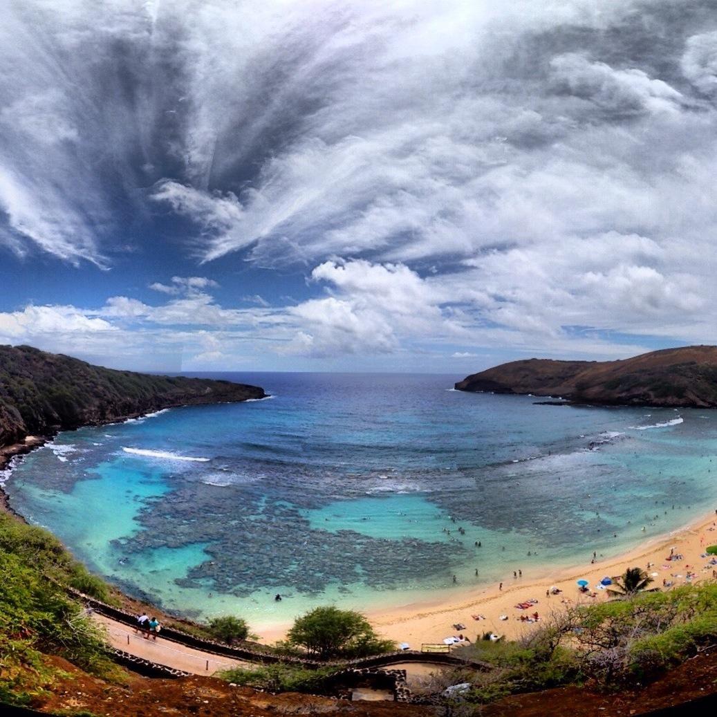 Intern Perkins photograph of Hanuma Bay in Hawaii