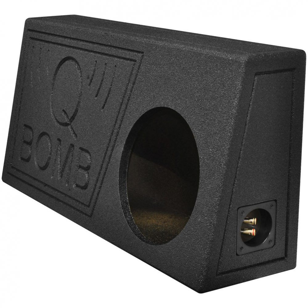 """Qpower Single 10"""" Truck Ported SPL Empty Woofer Box with"""