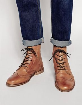 Mens brogue boots, Leather brogues