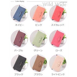 Photo of Long Wallet Ladies Long Wallet Ribbon Large Capacity Mobile Storage Leather Purse Coin Purse Coin Case Card Case New Year …