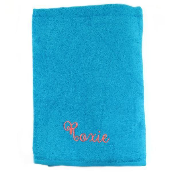 Terry Monogrammed Beach Towel In 5 Colors Monogrammed Beach