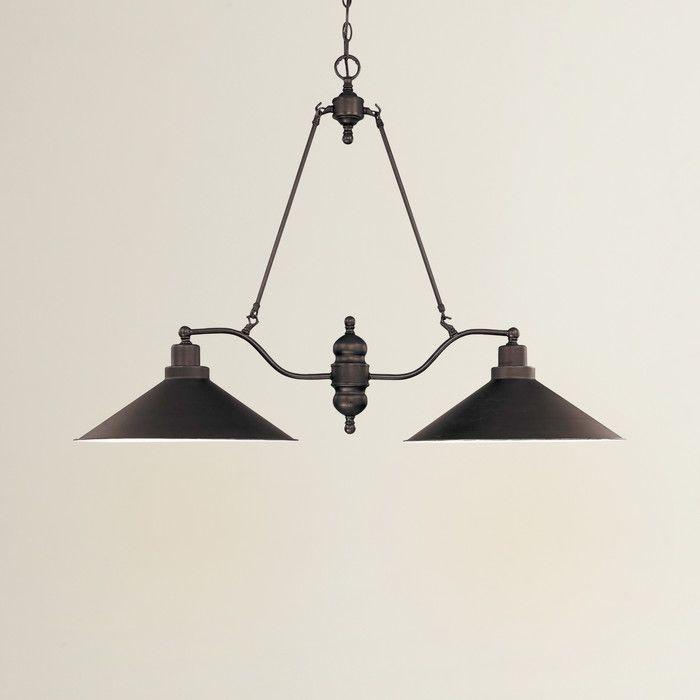 Trent Austin Design Schaff Light Kitchen Island Pendant Reviews - 2 light island chandelier