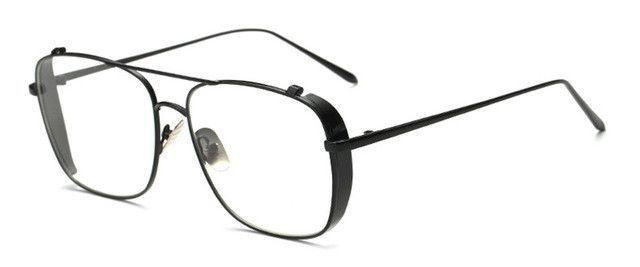 IG Womens Matte Finish Retro Temple Design Fashion Clear Lens Glassses