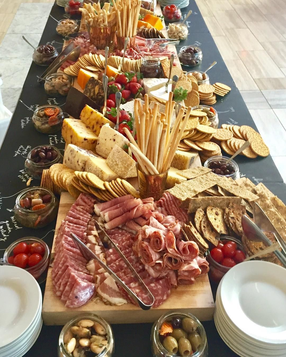 Big Board Cheese and Charcuterie Display is the ultimate in indulgence! #charcuterieboard