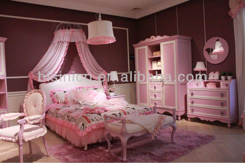 Beau Romantice Teens Bedroom Furniture,barbie Princess Bedroom Set(B50610)