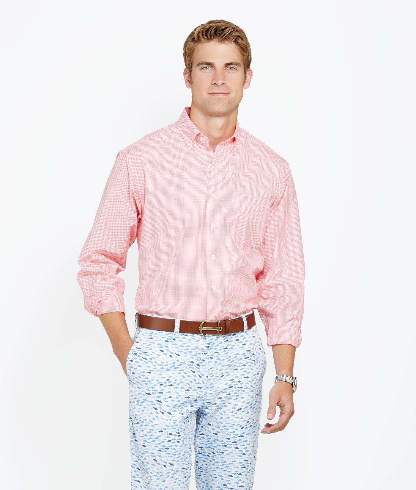 Men's Sport Shirts: Knox Gingham Classic-Fit Murray Shirt for Men ...