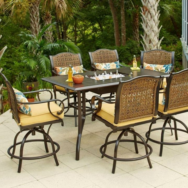 Outdoor Bar Height Dining Table Set A Is What Folks Use To Have Their Daily Breakfast Before Work Or La