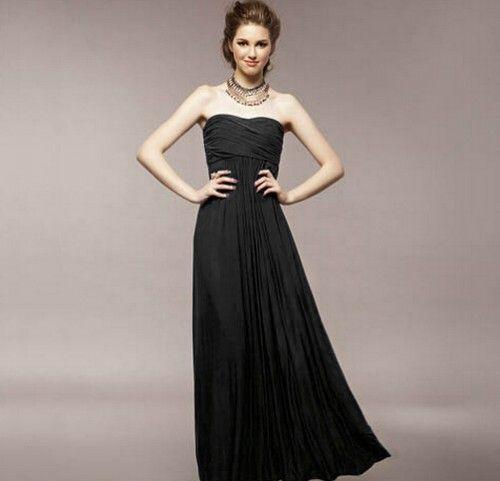 Goddess Bra Court Temperament Elegant Evening Gown Skirt Waist Black ...