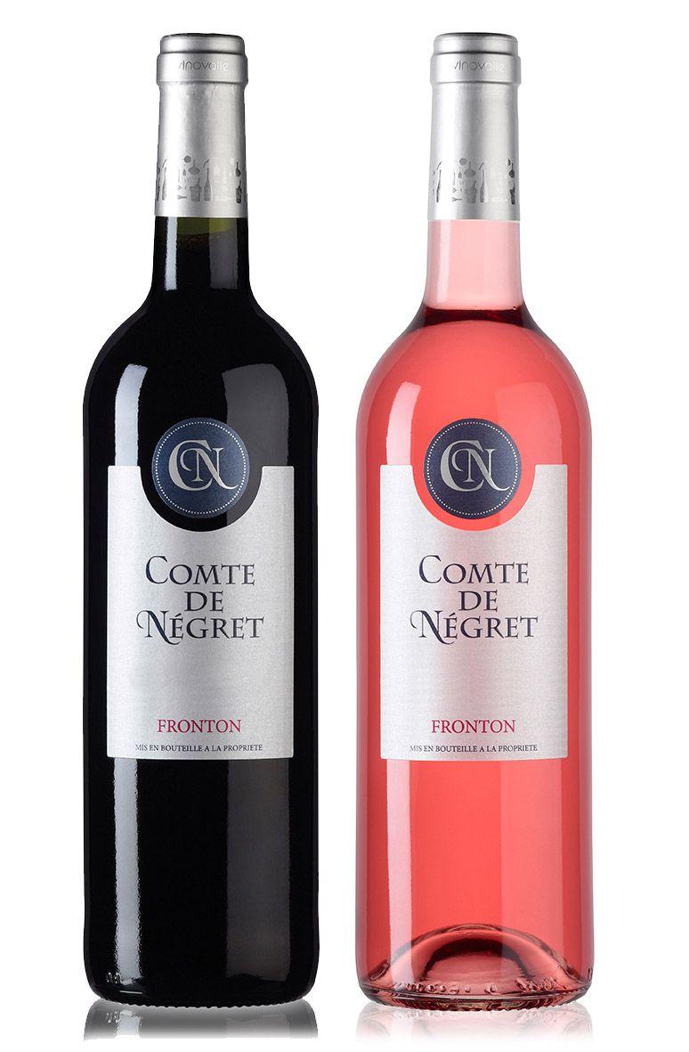 Comte De Negret Aop Fronton Wine Packaging Vinovalie Etiquette Vin Bouteille Vins Du Monde