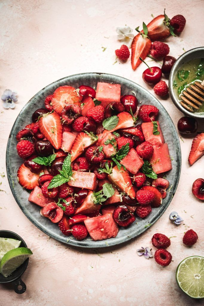 Summer Watermelon Salad with Berries | Crowded Kit