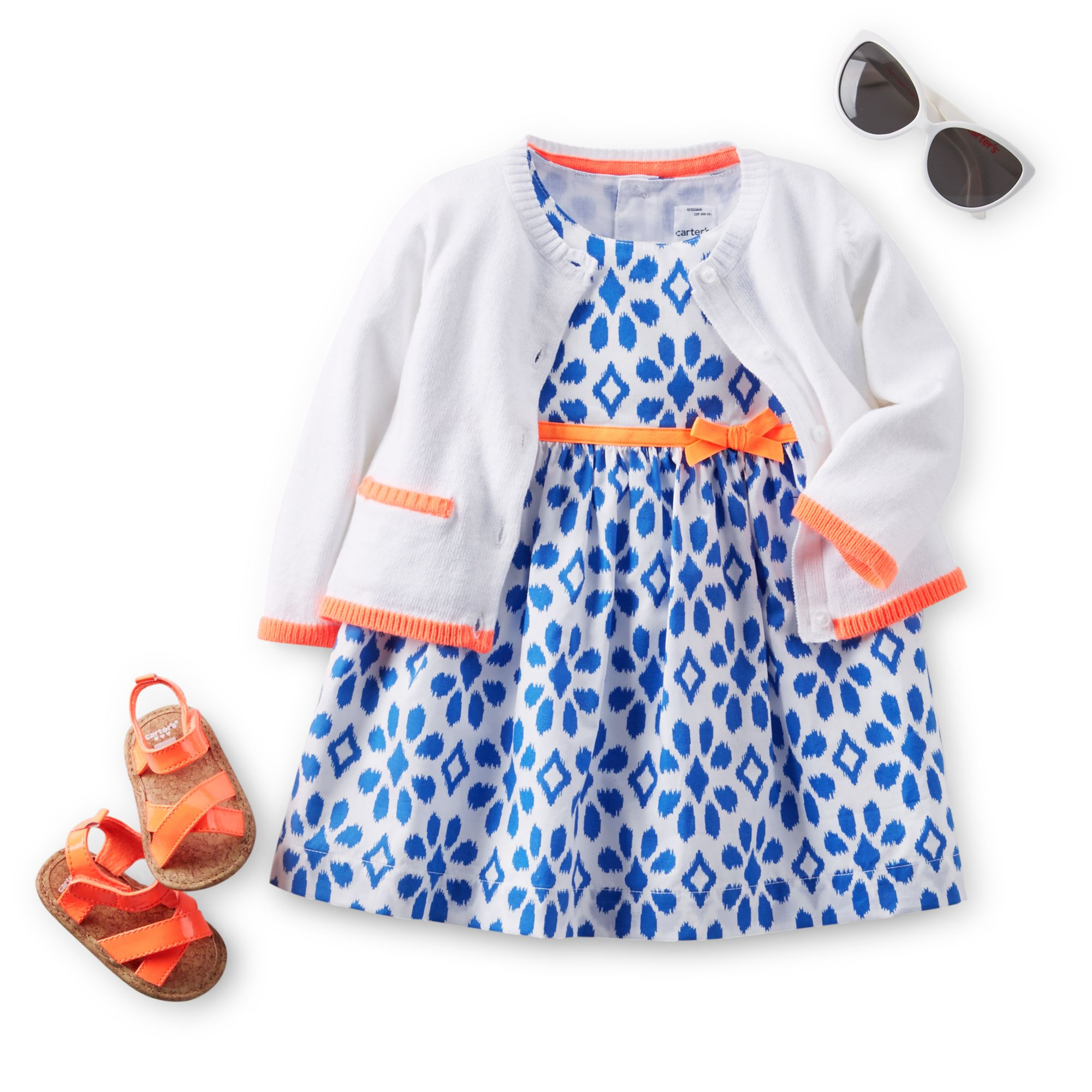Sunglasses kid neon summer dress