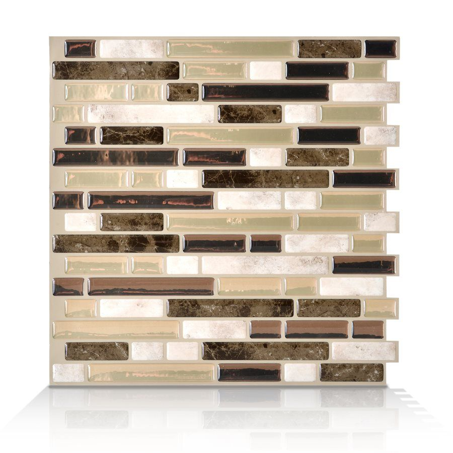 Lowes Peel And Stick Tile Kitchen Accent Wall: Smart Tiles 6-Pack 10 X 10 Bellagio Bello Peel-and-Stick