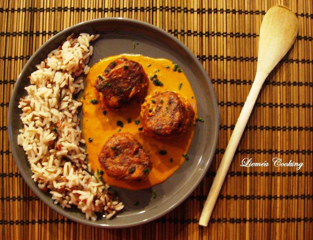 ... Boulettes de dinde à la Thaïe, sauce coco curry ...
