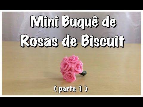 Dicas B e K artes - Mini Buquê de Rosas de Biscuit ( parte 1) - YouTube