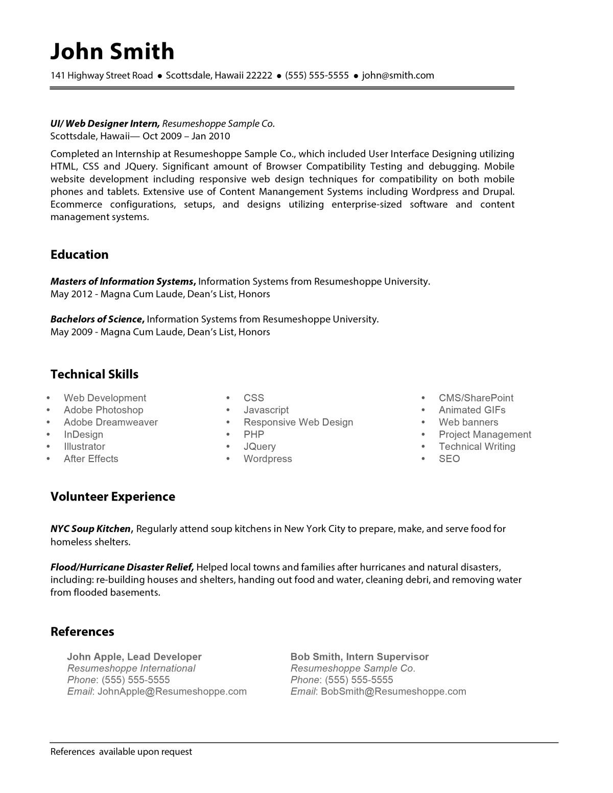 The John Resume   Resume Shop    Professional Resume
